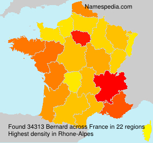 Surname Bernard in France