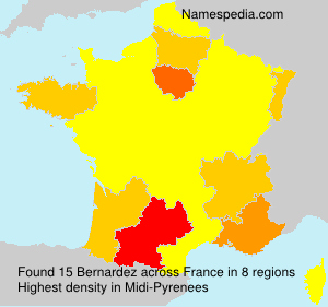 Surname Bernardez in France