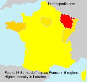 Familiennamen Bernardoff - France