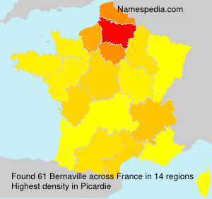 Surname Bernaville in France