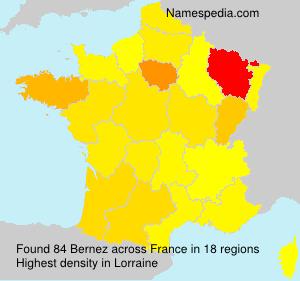 Surname Bernez in France