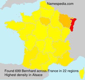 Surname Bernhard in France