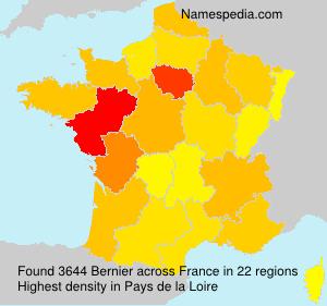 Familiennamen Bernier - France
