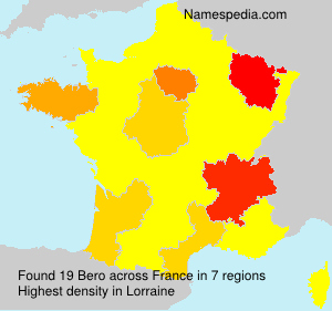 Surname Bero in France