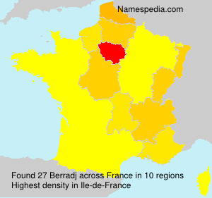 Surname Berradj in France