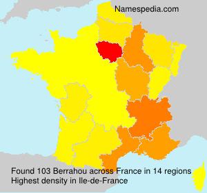 Familiennamen Berrahou - France