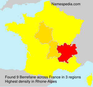 Surname Berrefane in France