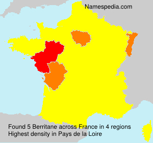 Surname Berritane in France