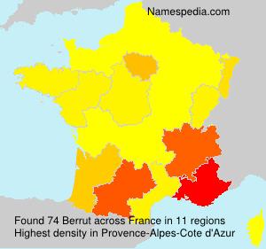 Surname Berrut in France