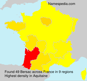 Surname Bersac in France