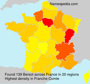 Surname Bersot in France