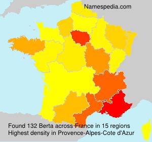 Surname Berta in France