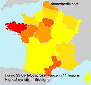 Familiennamen Bertelot - France