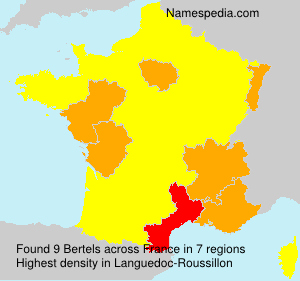 Familiennamen Bertels - France