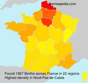 Surname Berthe in France