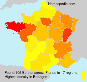 Surname Berthel in France