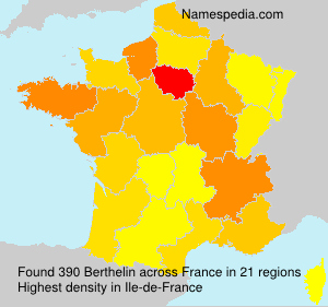 Surname Berthelin in France