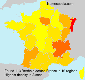 Surname Berthold in France