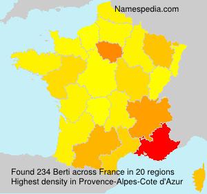 Familiennamen Berti - France