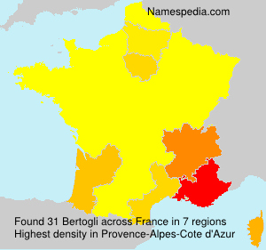 Familiennamen Bertogli - France