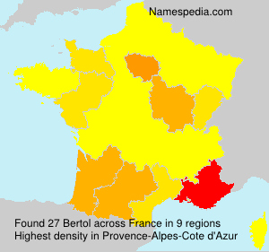 Surname Bertol in France