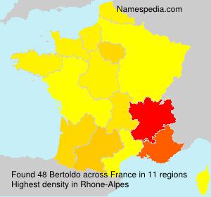 Surname Bertoldo in France
