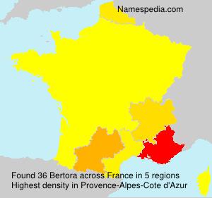Surname Bertora in France