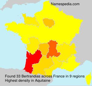 Surname Bertrandias in France
