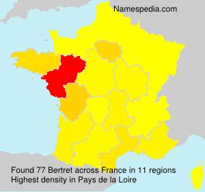 Familiennamen Bertret - France