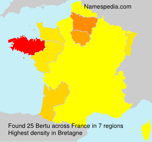 Surname Bertu in France