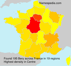 Surname Bery in France