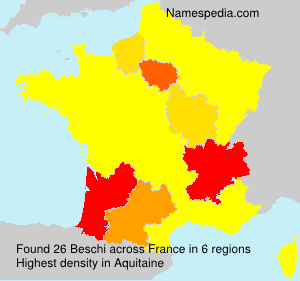 Surname Beschi in France