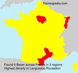 Familiennamen Beser - France