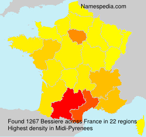 Surname Bessiere in France
