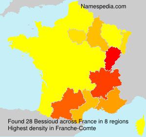 Familiennamen Bessioud - France