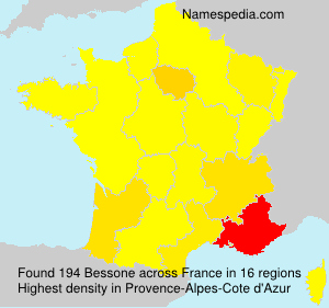 Surname Bessone in France