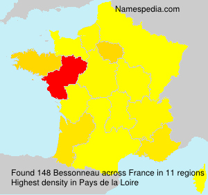 Surname Bessonneau in France