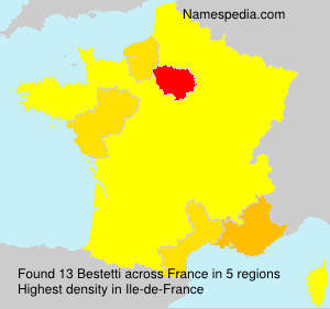 Surname Bestetti in France