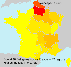 Surname Bethgnies in France