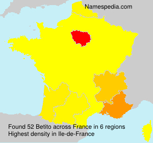 Surname Betito in France