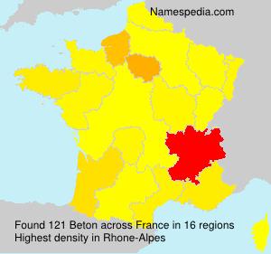 Surname Beton in France