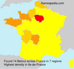 Surname Betout in France