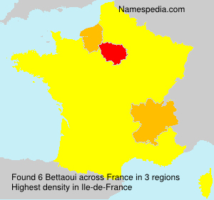 Surname Bettaoui in France