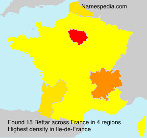 Surname Bettar in France
