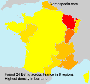 Surname Bettig in France