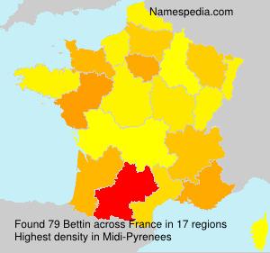 Familiennamen Bettin - France
