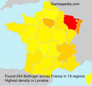 Surname Bettinger in France