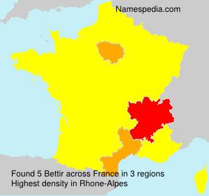 Surname Bettir in France