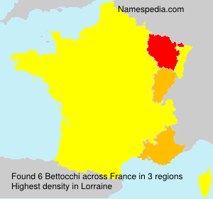 Surname Bettocchi in France