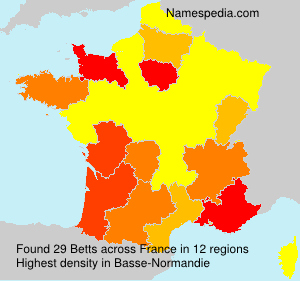 Surname Betts in France